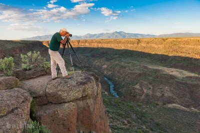 Photographer taking pictures of Rio Grande Gorge