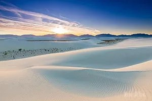 White Sand Dunes in Southern New Mexico