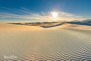 Wind swept designs in sand - White Sands National Park, New Mexico