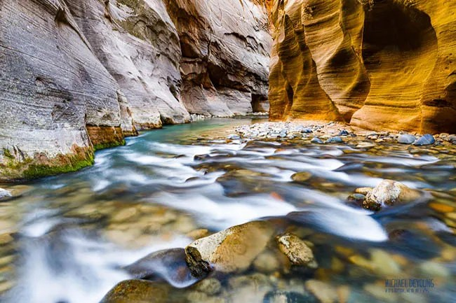 Virgin Narrows in Utah's Zion National Park - Learn to see and capture similar landscape photos