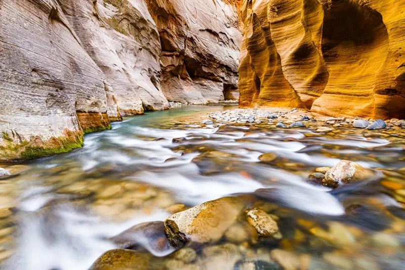 Zion National Park's famous Virgin River Narrows. © Michael DeYoung