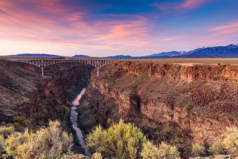 View of Taos Gorge Bridge along the West Rim trail in Rio Grande del Norte National Monument in Taos County, New Mexico. © Michael DeYoung