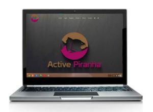 Active Piranha on a laptop