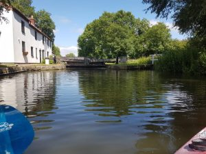 Kayak on the Chesterfield canal