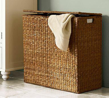Divided Storage Laundry Bin by Pottery Barn
