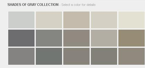 Benjamin Moore Shades of Gray Collection