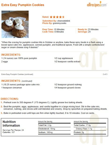 Stay Home, Bake Easy, Low Calorie Pumpkin Cookies