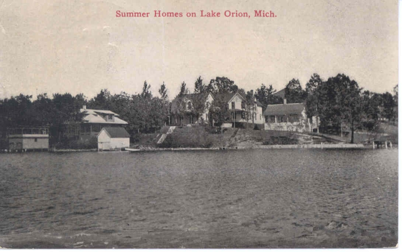 summer house on lake orion pre 1913