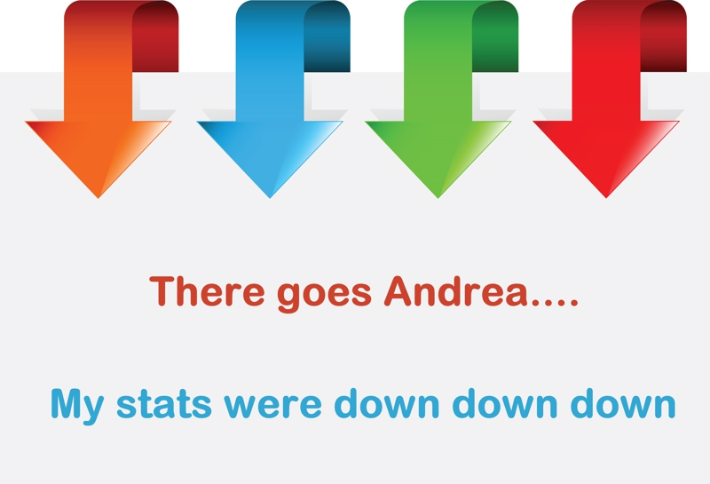 Andreas stats are down down down