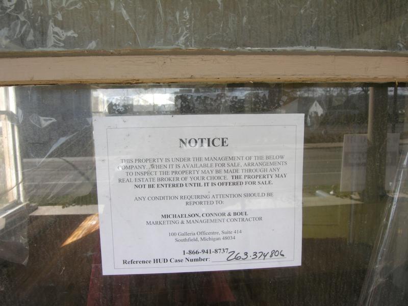 HUD home notice