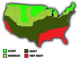 Termite Map- General distribution