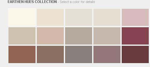 Benjamin Moore Earthen Hues Colection