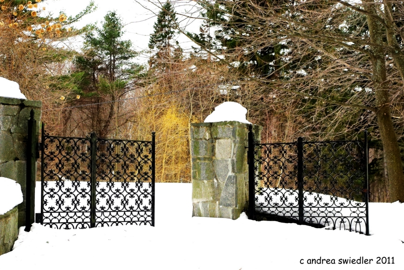 New Milford CT gates in winter