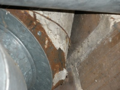 Asbestos on remnant ductwork