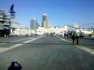 USS Midway aircraft carrier runway