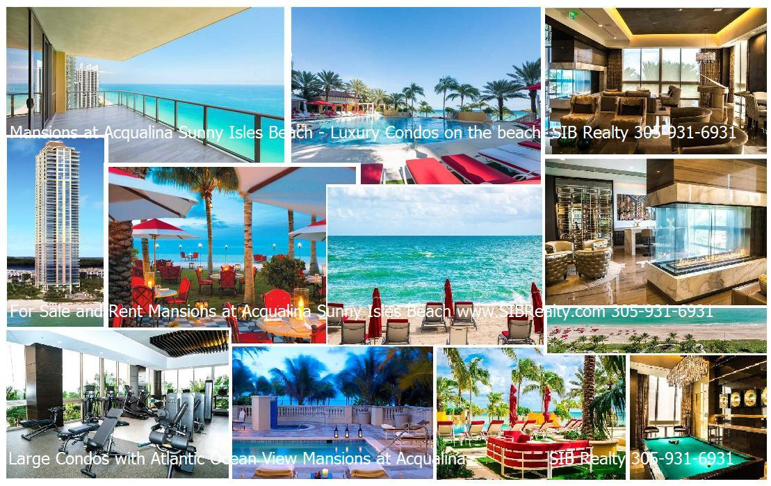 Mansions at Acqualina Sunny Isles Beach Condos For Sale