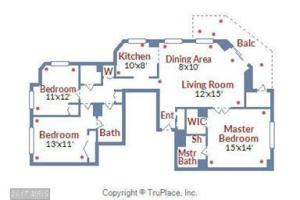 Floor plan of 1015 at the Chase