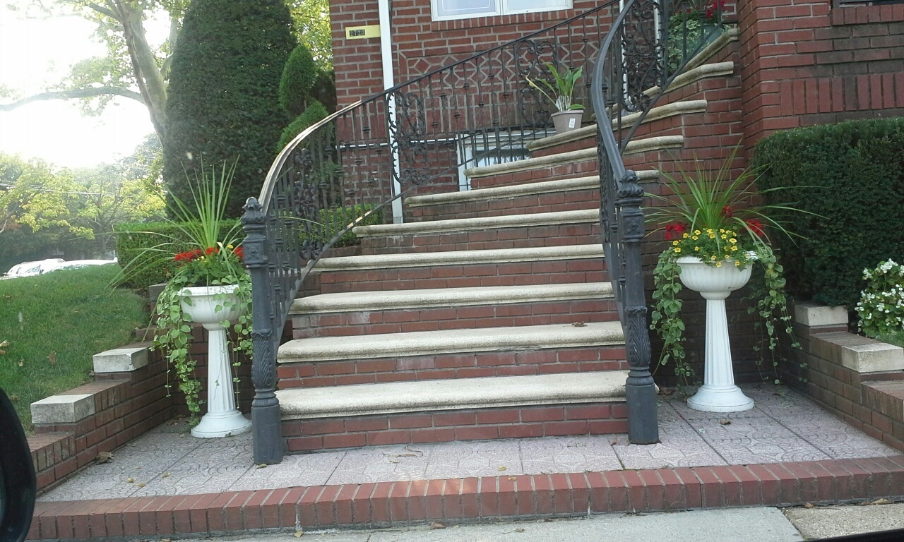 stairs leading to a brooklyn home