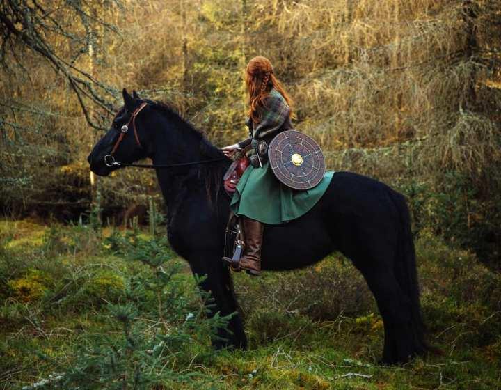 Horseback riding in the Scottish Highlands