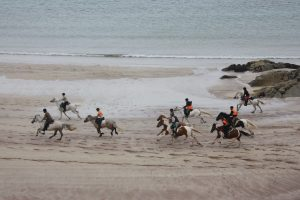 Beach riding in the Scottish Highlands
