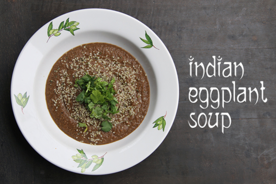 Indian Style Eggplant Soup