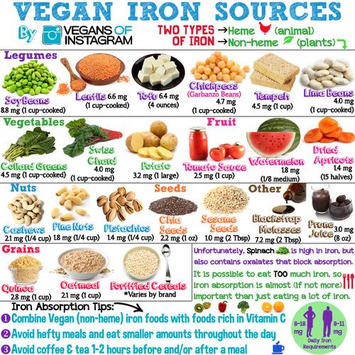 vegan iron