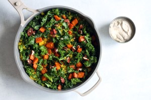 Warm Kale Salad Recipe by Active Vegetarian