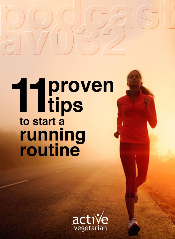 Av032 11 Proven Tips to start a running routine