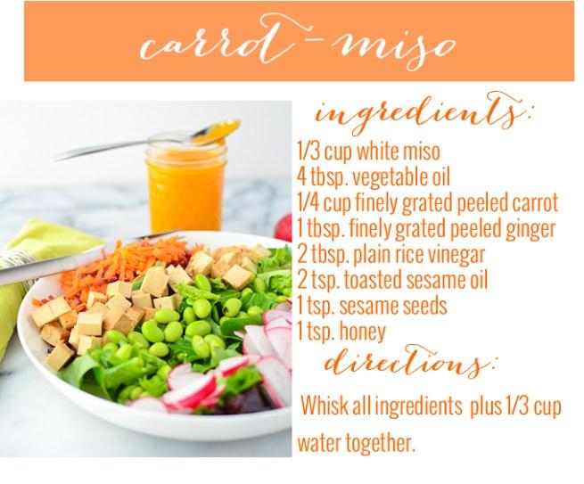 carrot miso dressing