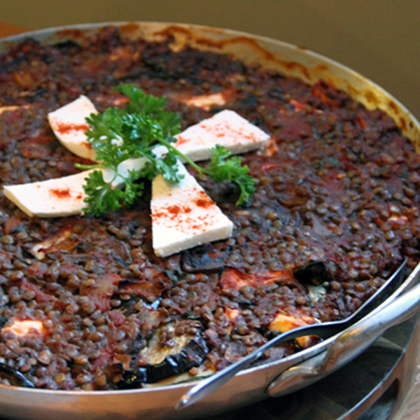 Vegetarian Moussaka With Eggplant And Lentils