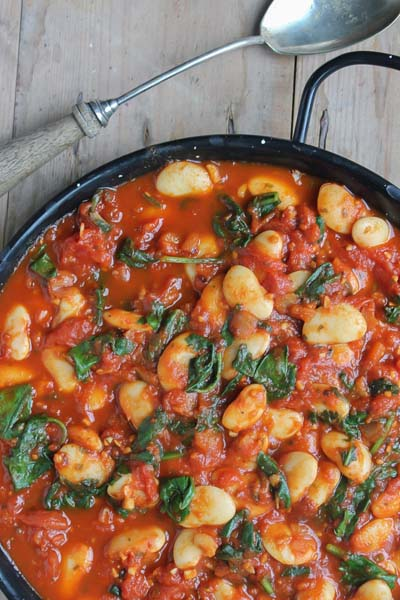 This is a veggie spanish beans recipe made by Active Vegetarian
