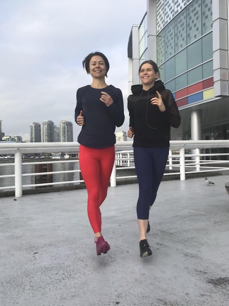 This is Nikki and Zuzana running