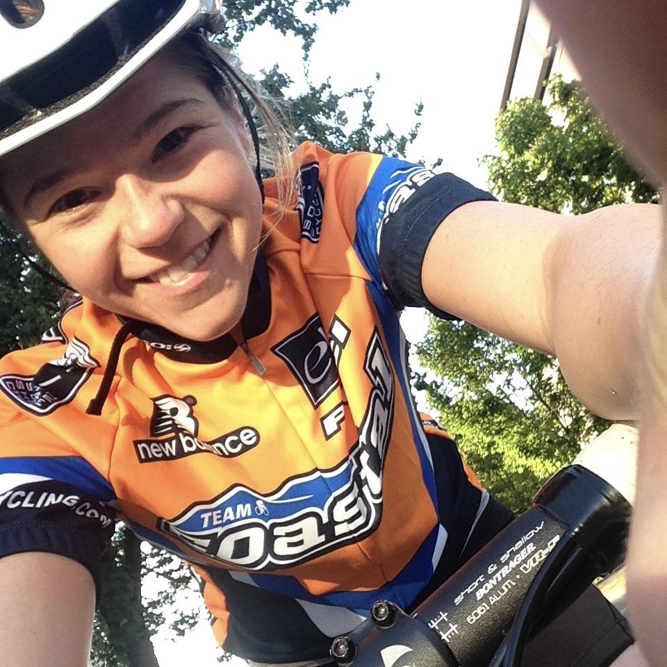 This is Nikki biking