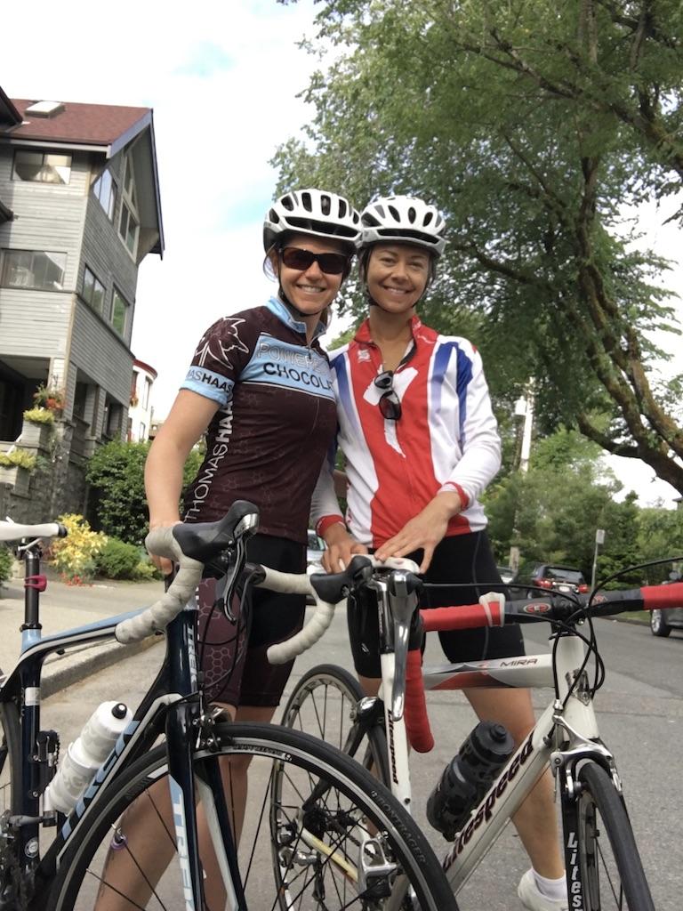 This is Nikki and Zuzana biking