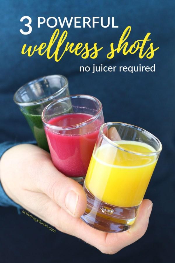 3 powerful wellness plant-based shots - flu, iron, skin