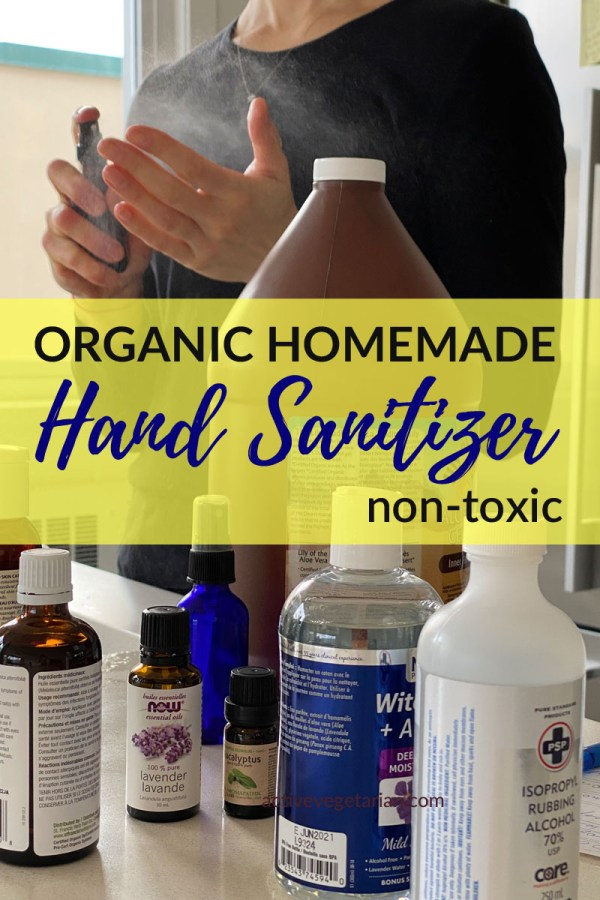 Organic Homemade hand sanitizer Spray