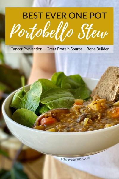 One Pot Portobello Stew recipe by Active Vegetarian