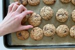 This is oatmeal chocolate chip cookies recipe made by Active Vegetarian