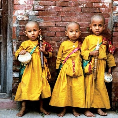 Nepal trzech chłopców