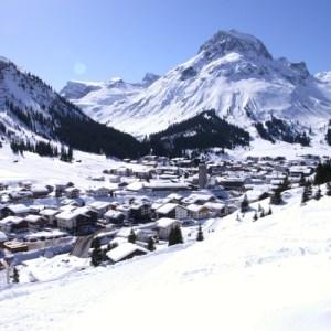 Lech w Austrii panorama