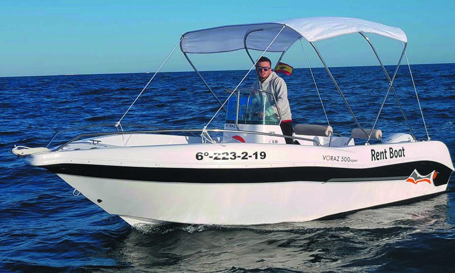 Torrevieja without license charter boat