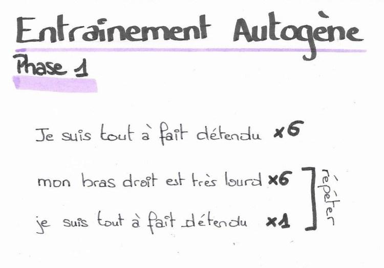 entrainement autogène phase 1