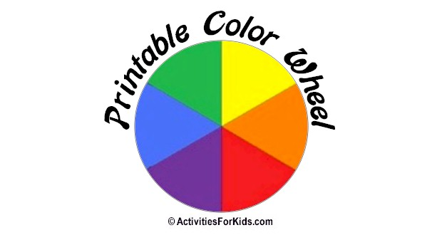 picture relating to Color Wheel Printable known as Printable Shade Wheel - Key, Secondary Shades (Shades)