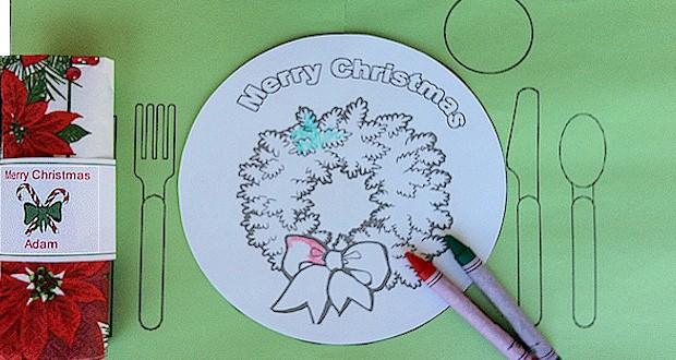 Printable Christmas Placemat For Kids