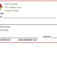 Printable Checks for Students