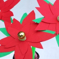 Poinsettia Flower Craft