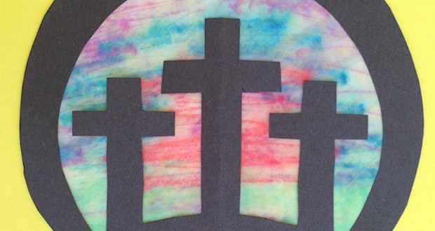 Three Crosses Craft For Easter