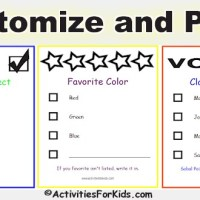 Printable Ballots for Kids