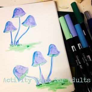Pastel mushrooms
