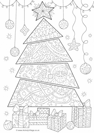 Christmas Doodle Colouring Bookmarks